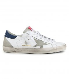 GOLDEN GOOSE  - ICE SUEDE STAR SUPERSTAR SNEAKERS