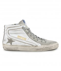 GOLDEN GOOSE  - SUEDE STAR & TOE SLIDE SNEAKERS