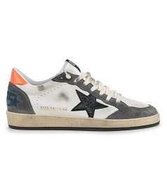 GOLDEN GOOSE  - SHINY LEATHER STAR BALLSTAR SNEAKERS