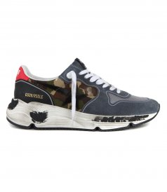GOLDEN GOOSE  - CAMOUFLAGE RUNNING SNEAKERS