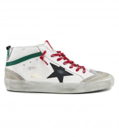 GOLDEN GOOSE  - BLACK SUEDE STAR MIDSTAR SNEAKERS