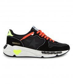 GOLDEN GOOSE  - LEATHER STAR RUNNING SNEAKERS