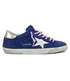 GOLDEN GOOSE  - BLUETTE NABUK SUPERSTAR SNEAKERS