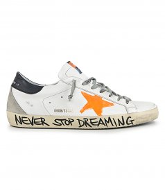 GOLDEN GOOSE  - ORANGE PRINT STAR SUPERSTAR SNEAKERS