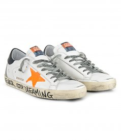 ORANGE PRINT STAR SUPERSTAR SNEAKERS