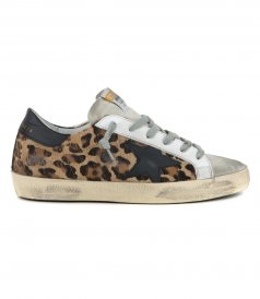 GOLDEN GOOSE  - HORSY LEOPARD SUPERSTAR SNEAKERS