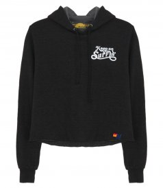 KEEP ON SURFING CROP PULLOVER HOODIE