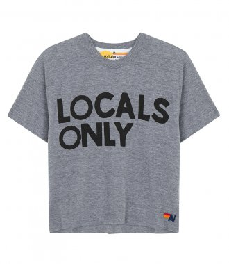 AVIATOR NATION - WOMEN'S LOCALS ONLY BOYFRIEND TEE SHIRT