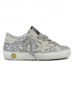 GOLDEN GOOSE  - GLITTER SUPERSTAR SNEAKERS