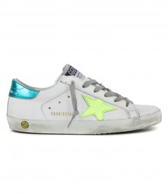 GOLDEN GOOSE  - LAMINATED HEEL SUPERSTAR SNEAKERS