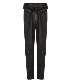 CLOTHES - BIKER LEATHER STRETCH PANTS