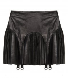 CLOTHES - PLEATED LEATHER SKIRT