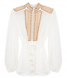 CLOTHES - BRIGHTON BEADED YHOKE BLOUSE