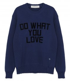 GOLDEN GOOSE  - DARREL FLOCK PRINT SWEATER