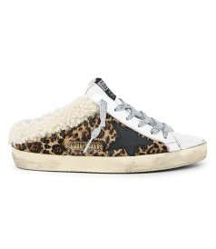 GOLDEN GOOSE  - SABOT HORSY LEO SHEARLING SUPERSTAR