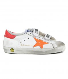 GOLDEN GOOSE  - ORANGE FLUO STAR OLD SCHOOL SNEAKERS
