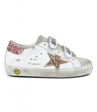 GOLDEN GOOSE  - GLITTER STAR AND HEEL OLD SCHOOL SNEAKERS