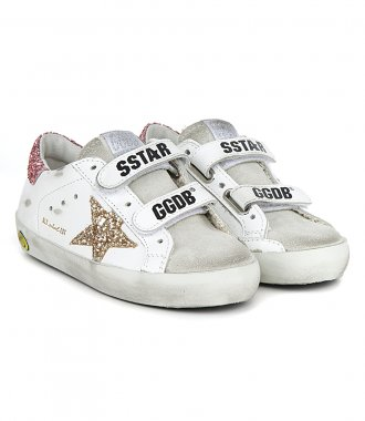GLITTER STAR AND HEEL OLD SCHOOL SNEAKERS