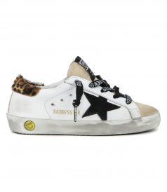 GOLDEN GOOSE  - HORSY HEEL SUPERSTAR SNEAKERS