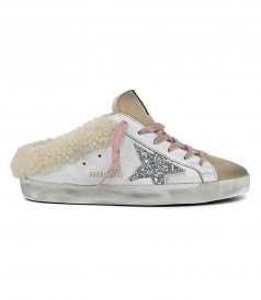 GOLDEN GOOSE  - SABOT SHEARLING SUPERSTAR SNEAKERS