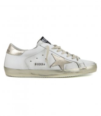 GOLDEN GOOSE  - GOLD LAMINATED STAR SUPERSTAR SNEAKERS