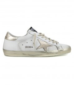 SHOES - GOLD LAMINATED STAR SUPERSTAR SNEAKERS
