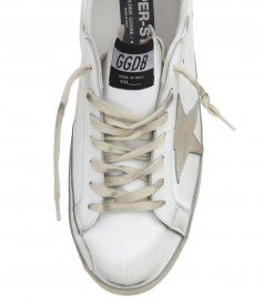 GOLD LAMINATED STAR SUPERSTAR SNEAKERS