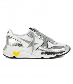SHOES - SILVER CRACK RUNNING SNEAKERS