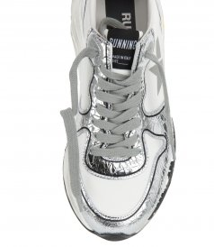 SILVER CRACK RUNNING SNEAKERS