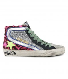 SHOES - GLITTER & STAR LOVE SOLE SLIDE SNEAKERS