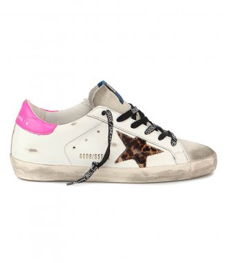 GOLDEN GOOSE  - LEOPARD HORSY STAR SUPERSTAR SNEAKERS