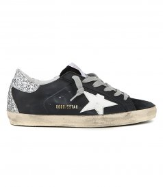 SILVER GLITTER SPUR SUPERSTAR SNEAKERS