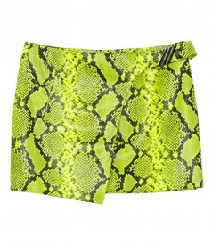 JUST IN - MINI SKIRT PYTHON PRINTED LEATHER