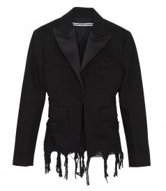 JUST IN - FRAYED DENIM BLAZER