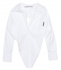 LONG SLEEVE SHIRT WITH FALLING BACK COLLAR