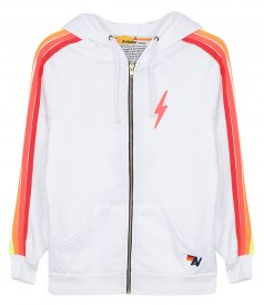JUST IN - CLASSIC 4 STRIPE BOLT ZIP HOODIE
