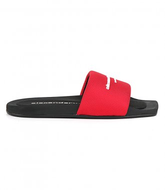 ALEXANDER WANG - AW POOL SLIDE RED NYLON