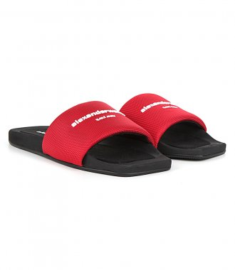AW POOL SLIDE RED NYLON
