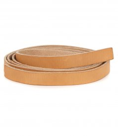 JUST IN - WASHED LEATHER NARROW STRING BELT
