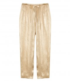 CLOTHES - LAMINATED MOIRE SATIN PANTS
