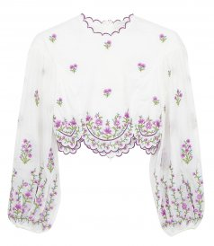 JUST IN - POPPY FLORAL CROP TOP