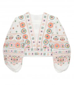 JUST IN - BRIGHTON EMBROIDERY CROP TOP
