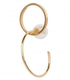 ACCESSORIES - TWINS HOOP LEFT MONO EARRING