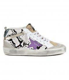 SHOES - FLOCK SNAKE MID STAR SNEAKERS