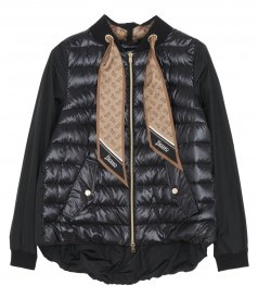 CLOTHES - NYLON ULTRALIGHT JACKET WITH TAFFETA AND FOULARD
