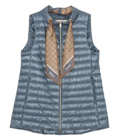 CLOTHES - A-SHAPE VEST WITH MONOGRAM SILK FOULARD
