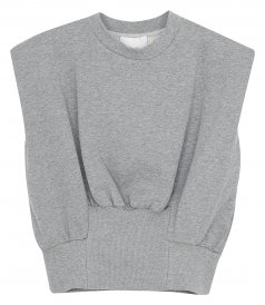 3.1 PHILLIP LIM - FRENCH TERRY SHIRRED TANK TOP