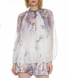 LUMINOUS LANTERN SLEEVE BLOUSE