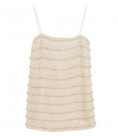 JUST IN - EMBELLISHED HANDWOVEN MINI DRESS