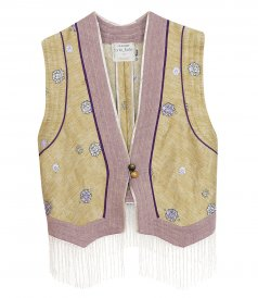 JUST IN - COCKTAIL ITALIANO JACQUARD ETHNIC WAISTCOAT